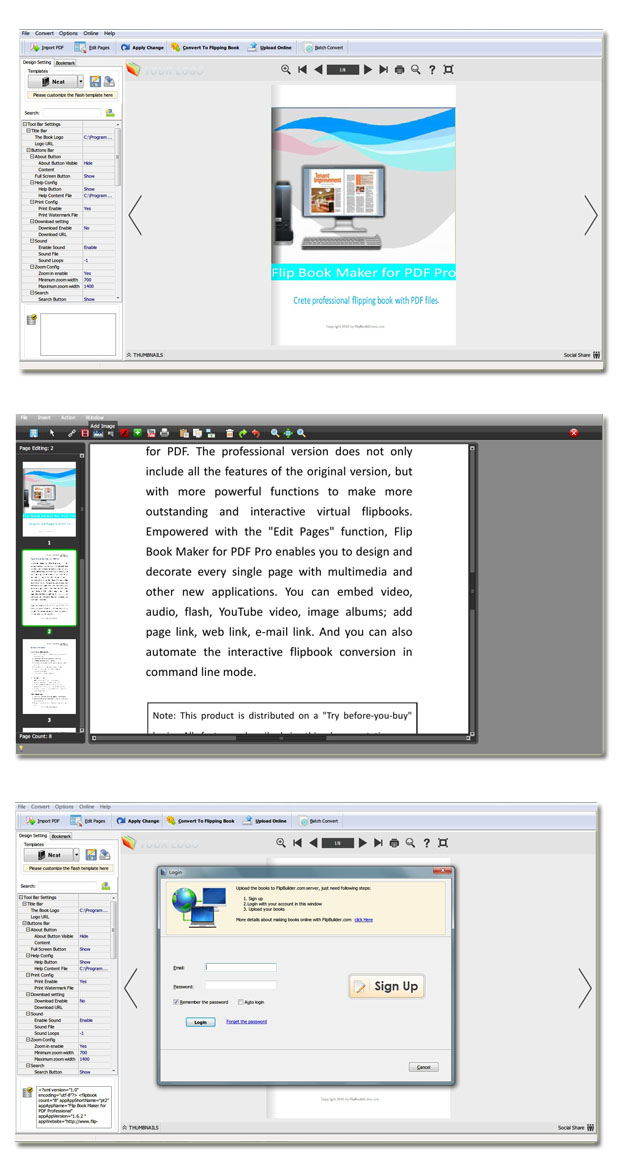 Windows 7 Easy PDF to FlipBook Pro 1.5 full